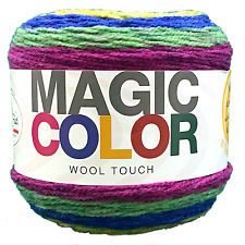 Gomitolo Lana Magic Color Wool Touch Mix Viola/Verde n°112