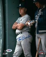 Tommy Lasorda Signed 8X10 Photo Autograph LA Dodgers Arms Crossed Auto PSA/DNA