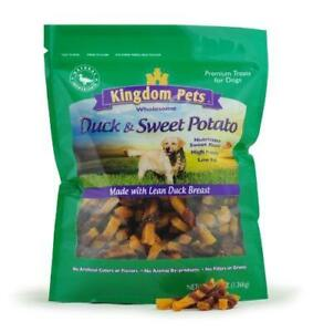 Kingdom Pets Filler Free Duck Jerky & Sweet Potato Twists, Premium Treats for