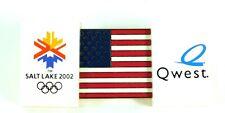 New listing 2002 Salt Lake Olympic Aminco Flag Quest Lapel Pin Pinback New