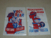 VINTAGE 1977 HUCKLEBERRY HOUND & YOGI BEAR FORTUNE TELLER LOT 15C HANNA BARBERA