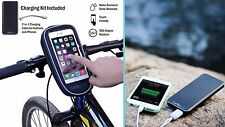 CapriGear Bike Phone Charger (All-In-One Case/Mount/Power Bank)