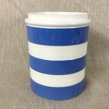Vintage Cornishware Storage Jar T G Green Cornish Container Blue & White Striped