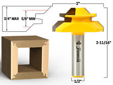 """45 Degree - Up to 3/4"""" Stock Lock Miter Router Bit - 1/2"""" Shank - Yonico 15127"""