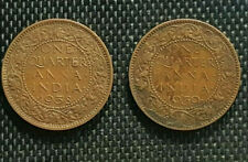1938/59 British India George VI(1/4) Anna coin, F 2pcs(+FREE 1 coin) #D8908