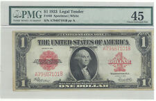 Legal Tender Fr# 40 1923 $1 Legal Tender red seal  PMG 45 Choice EF