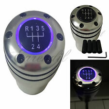 Manual Stick JDM Shift Knob Purple LED Light M/T Gear Sport Silver #St4 For Car