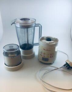 Vintage Moulinex Type 530 Blender & Coffee Spice Grinder: Nice, used Condition