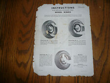 Chevrolet Installation Instructions for Applying Stainless Steel Rings 986258