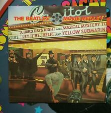 The Beatles ( MOVIE MEDELY )  BRITISH IMPORT 45 w/ PIC NM/NM  LENNON/McCARTNEY