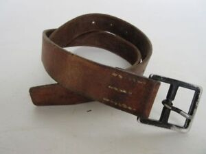 Switzerland Army Leather Belt Pants Coupling True Vintage Uniformgürtel 110