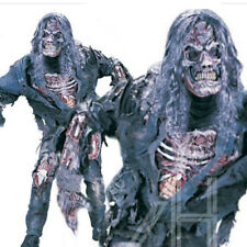 Halloween Adult Complete Zombie Scary Skeleton Costume Dress Fits Up to 6ft