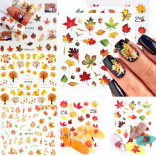 2x Nail Water Decals Autumn Maple Leaf Mixed Pattern Transfer Stickers Nail Tips