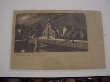 AK Ansichtskarte Gruss aus Esslingen, Stadtkirche und Agnesbrücke