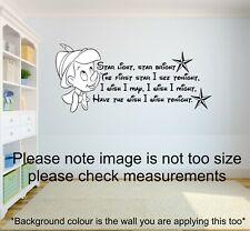Disney Pinocchio star light star bright quote-babies/children's Wall Art decal