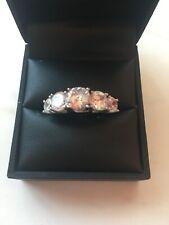 With Zirconia Stones Silver Hallmarked Ring