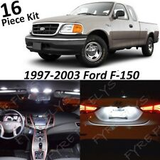White Map Dome LED Interior Light Package Kit Fits 1997-2003 Ford F150 F-150 FF3