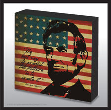 8x8 Patriotic Abraham Lincoln decorated art wood panel