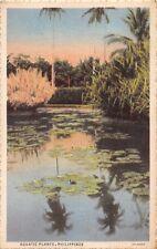 PHILIPPINES AQUATIC PLANTS POSTCARD c1932