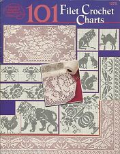 101 Filet Crochet Charts Instruction Pattern Book Rita Weiss ASN #1275 1999