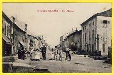 cpa Lorraine 54 - NEUVES MAISONS (Meurthe et Moselle) Rue d' EPINAL Animée