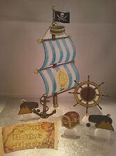 Pirata nave VELA Set ** WAFER ** commestibili per torta Decorazione Set