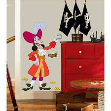 """Jake and Neverland Pirates CAPTAIN HOOK wall stickers MURAL 23 decals skulls 53"""""""