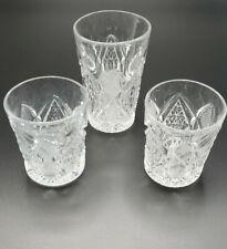 3 EAPG Shooter Liqueur Crystal Set. Awesome design.