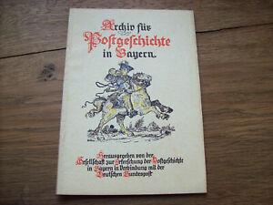 Archiv für Postgeschichte in Bayern 1953-2 Postgeschichte der Stadt Mindelheim