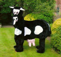 Hire a 2 - man  Pantomime COW Costume - Black or Brown