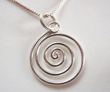 Very Small Spiral Pendant 925 Sterling Silver Corona Sun Jewelry