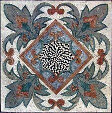 "24"" Handmade Decorative Geometric wall floor Marble Mosaic Art Stone Tile Decor."