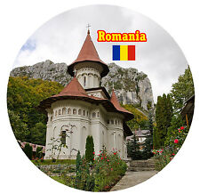 ROMANIA - ROUND SOUVENIR FRIDGE MAGNET -  FLAGS / SIGHTS - BRAND NEW - GIFTS