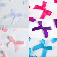 50pcs Satin Ribbon Flowers Bows Appliques Craft Gift Wedding Decoration ornament