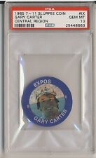 GARY CARTER 1985 7-11 Slurpee Coin Central Region #IX PSA 10 GEM MINT EXPOS HOF