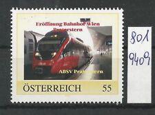 """Österreich PM personalisierte Marke Eisenbahn """"Eröffnung Bhf Praterstern """" **"""