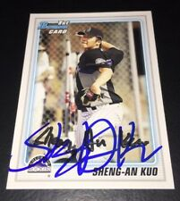 SHENG-AN KUO - SIGNED 2010 BOWMAN PROSPECTS #BP52 CARD! AUTOGRAPHED PITCHER