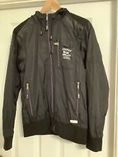 Firetrap Mens Jacket Size Small Black Showerproof Jacket With Hood