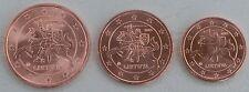 1+2+5 Euro Cent Litauen 2015 unz
