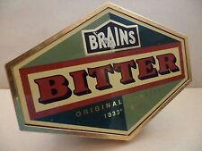 Brains Bitter Original Gravity AleThick Plastic Bar Beer Pump Clip Collectible