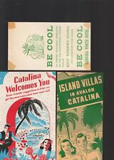 CATALINA CALIFORNIA 6 VINTAGE ITEMS, INCLUDING 2 BROCHURES AND 2 POST CARDS