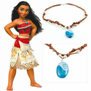 Moana Princess Charm Necklace Pendant Costume Cosplay Fancy Dress Up Jewellery