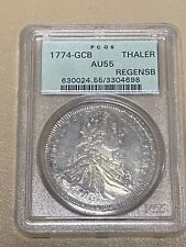 1774-GCB GERMANY 🇩🇪 REGENSBURG Silver Coin JOSEPH II PCGS AU 55 * RARE 1 POP!
