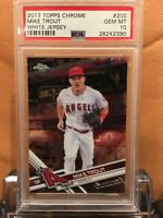 2017 TOPPS CHROME MIKE TROUT #200 WHITE JERSEY PSA 10 GEM MINT ANGELS HOF?