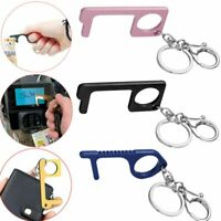 Fashion Key Door Opener Handheld Keychain No Touch Hand Tool Women Men Keyring