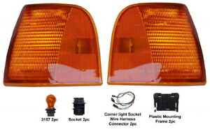 New Turn Signal Corner Light PAIR FOR Peterbilt 377 385 375