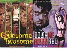 Herschell Gordon Lewis Classic Horror Movie Postcards - Set Of 2 - £2.99