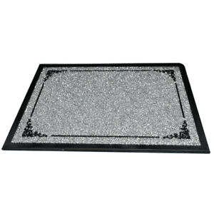 Crushed Diamond Silver Crystal Chopping Board Glass Worktop Saver Bread Board UK