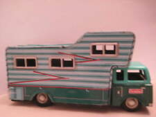 """Unusual Antique Tin Friction Toy Motor Home / Camper 8"""" Cragston Japan 1950s-60s"""