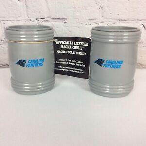 "NFL Carolina Panthers ""Magna Coolie"" Magnetic Can Koozie Pair Black/Blue/Silver"